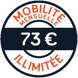 Pass mensuel à 73€